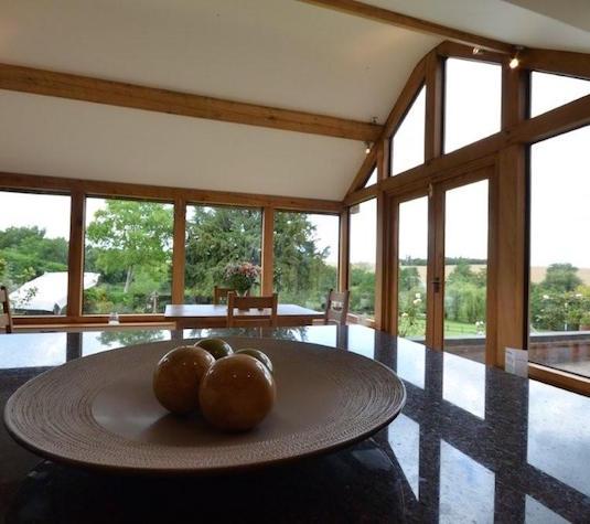 Oak framed garden room - built by Shires Oak
