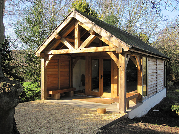 Oak framed office project by Shires Oak Buildings