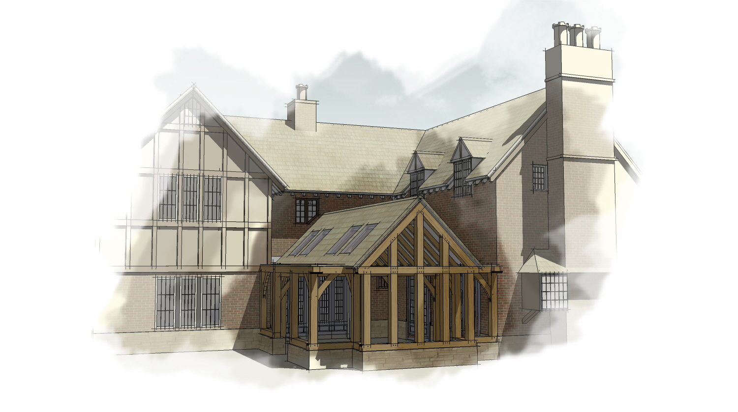 Design drawing by Shires Oak Buildings