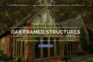 The new Shires Oak Buildings website