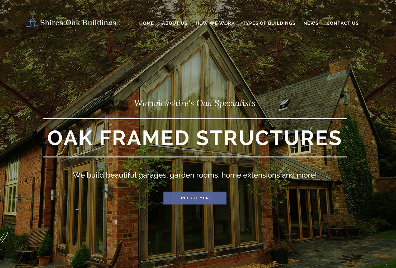The new Shires Oak Buildings website
