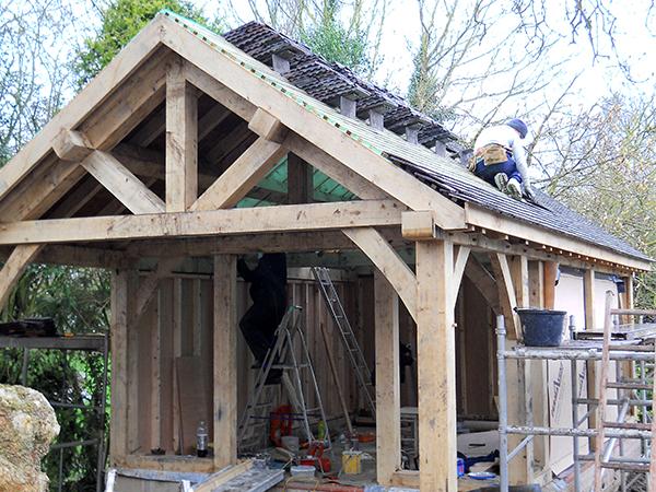 Oak framed office project by Shires Oak Buildings