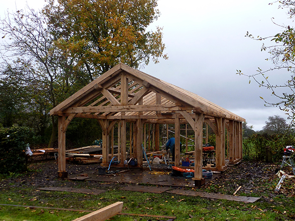 Garden workshop project by Shires Oak Buildings
