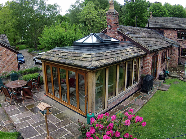 Oak framed orangery project by Shires Oak Buildings