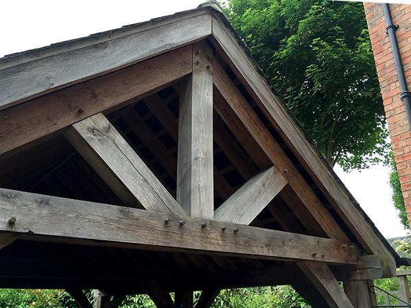 Oak framed 1 bay carport by Shires Oak Buildings