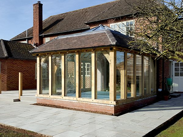 Oak framed orangery by Shires Oak Buildings
