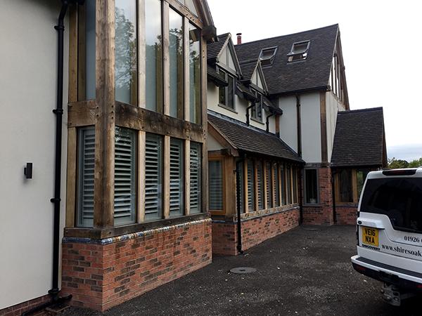Oak framed extensions by Shires Oak Buildings