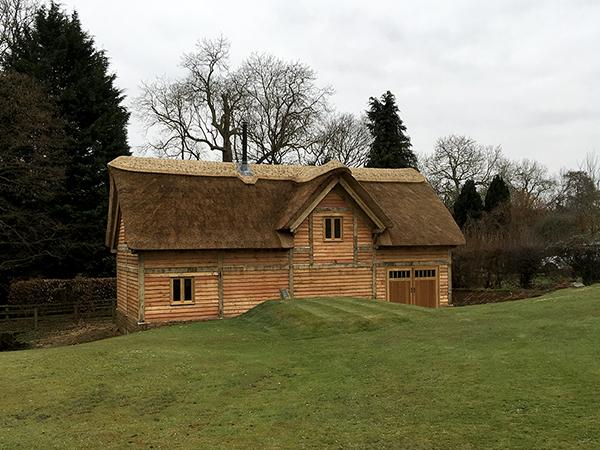 Oak framed mill building by Shires Oak Buildings