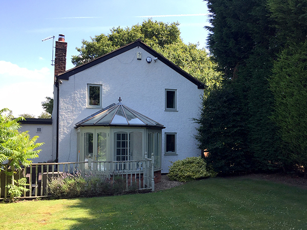 Conservatory to be replaced by garden room by Shires Oak Buildings